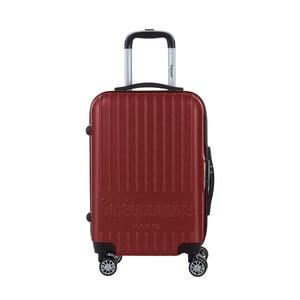 Tmavě červený cestovní kufr na kolečkách s kódovým zámkem SINEQUANONE Iskra, 44l