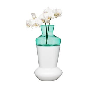 Dvojdílná bílo-tyrkysová váza Sagaform Duo