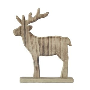 Decorațiune statuetă KJ Collection Reindeer Natural Wood