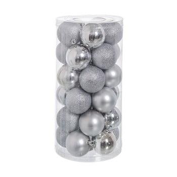 Set 30 decorațiuni de Crăciun Unimasa Baladdas, argintiu imagine