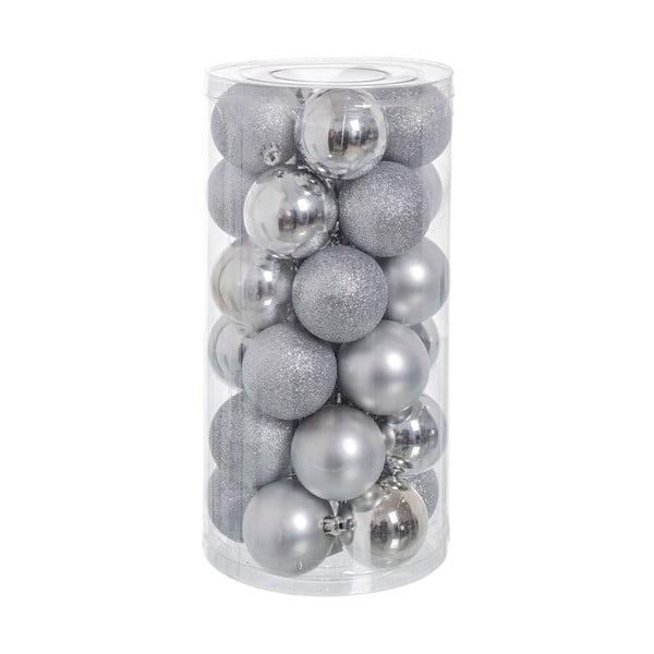 Set 30 decorațiuni de Crăciun Unimasa Baladdas, argintiu