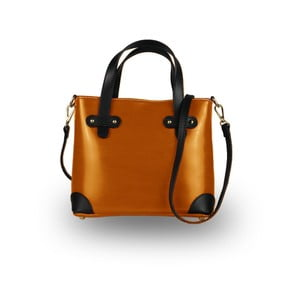 Oranžová kabelka z pravé kůže JOHN FISH Fun