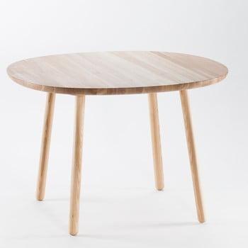 Masă dining din lemn masiv EMKO Naïve, ø 110 cm, natural de la EMKO