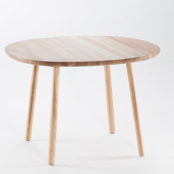 Prírodný jedálenský stôl z masívu EMKO Naïve, 110 cm