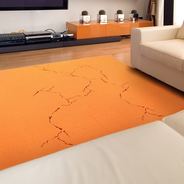 Koberec Fragile 170x170 cm, oranžový