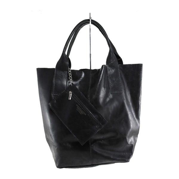 Černá kožená kabelka Toti