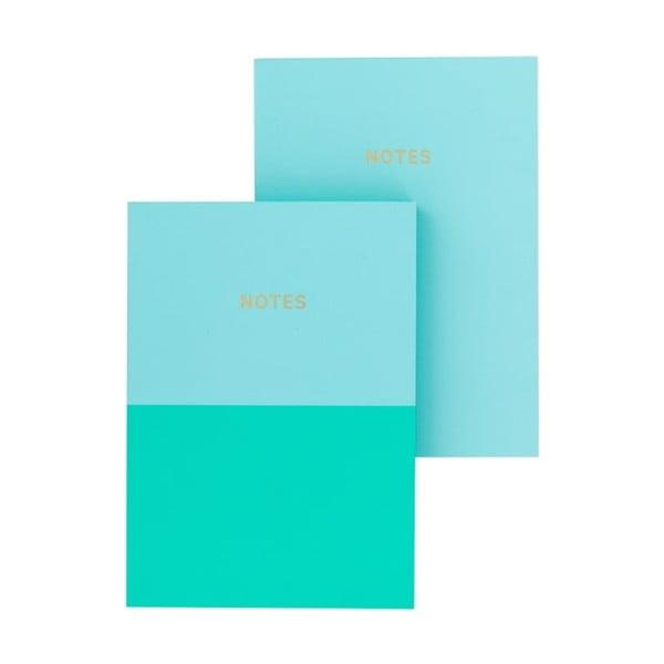 Set 2 caiete A6 GO Stationery Aqua, albastru turcoaz