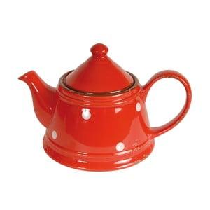 Červená keramická konvice Antic Line Tea Red