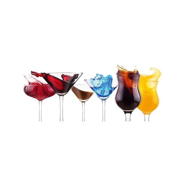 Skleněný obraz Splashing Cocktails, 30x80 cm