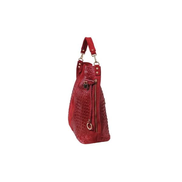 Červená kabelka z pravé kůže Andrea Cardone Edvige