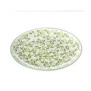 Zelenobílý talíř Unimasa Meadow, Ø 20,3 cm
