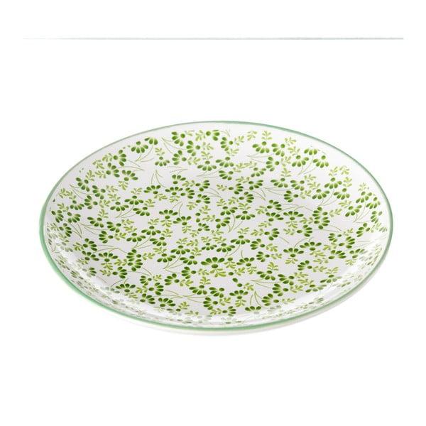 Farfurie Unimasa Meadow, Ø 20,3 cm, verde-alb