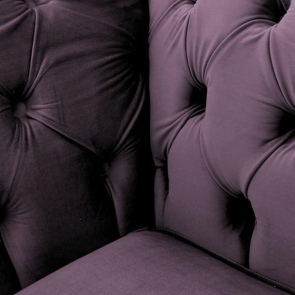 Canapea 2 locuri Vivonita Chesterfield, mov