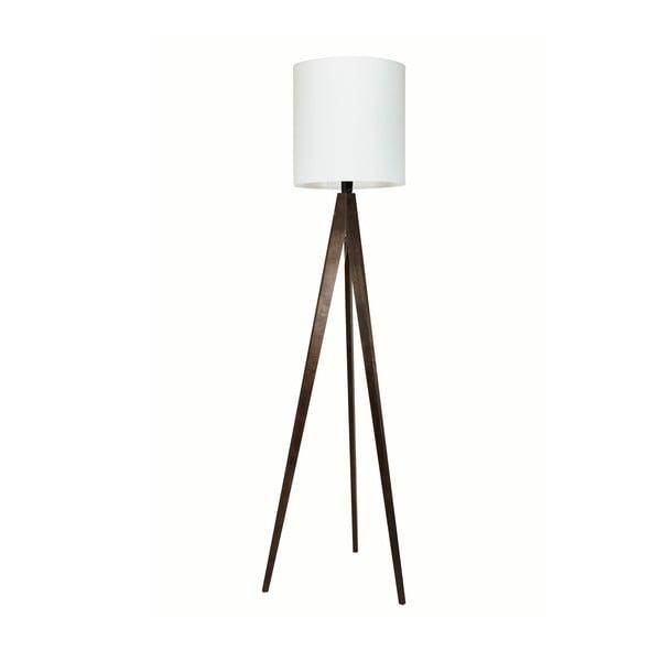 Stojací lampa Artist White/Brown, 125x33 cm