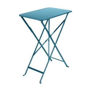 Modrý zahradní stolek Fermob Bistro, 37 x 57 cm