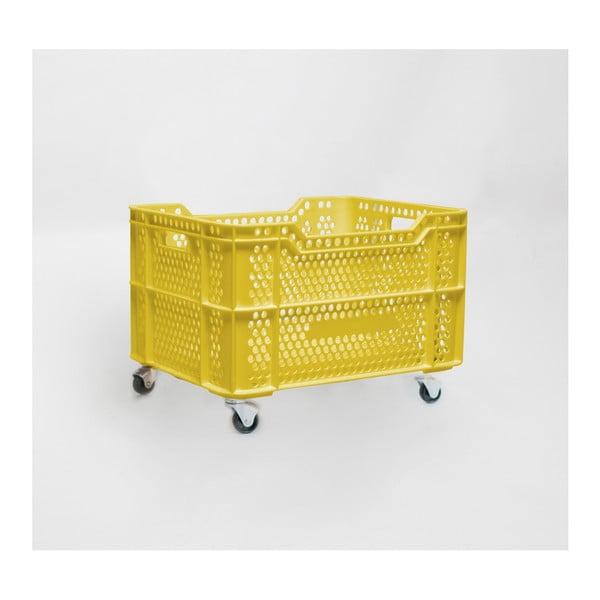 Cutie mobilă din plastic reciclat Really Nice Things Eco, galben