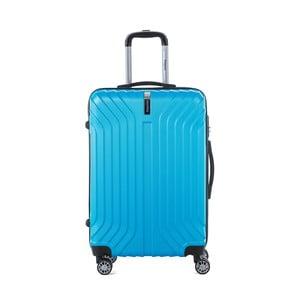 Tyrkysově modrý cestovní kufr na kolečkách s kódovým zámkem SINEQUANONE Elisabeth, 71 l