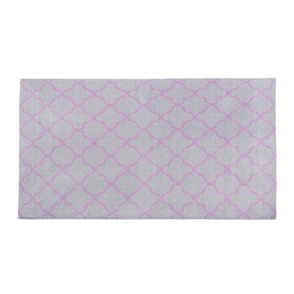 Vysoce odolný kuchyňský koberec Webtappeti Trellis Silver, 80x130 cm