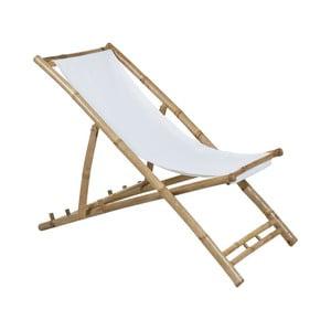 Bambusové lehátko s bílým sedákem Santiago Pons Hollywood