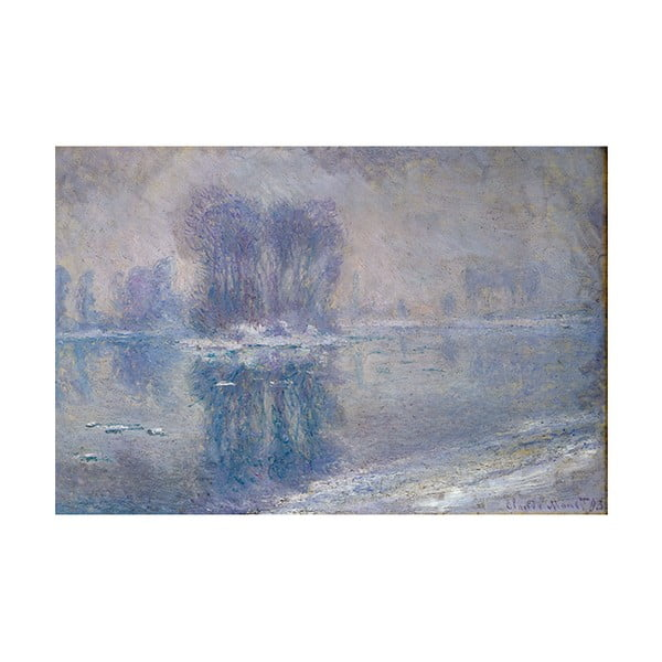 Obraz Claude Monet - Ice Floes, 90x60 cm