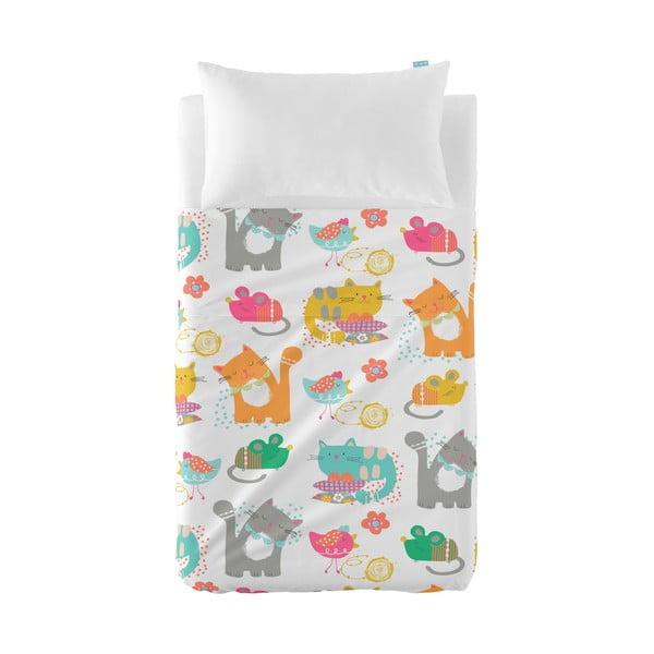 Přehoz a povlak na polštář Moshi Moshi Cat&Mouse, 120x180cm