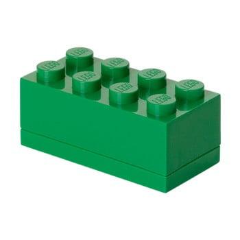 Cutie depozitare LEGO® Mini Box Green Lungo, verde de la LEGO®