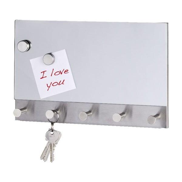 Cuier magnetic pentru haine/chei Wenko Mirror Long, 30 x 19 cm