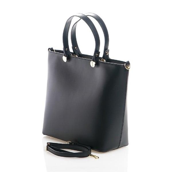 Kožená kabelka Viviana, černá