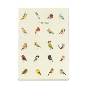 Zápisník A5 Go Stationery Songbirds