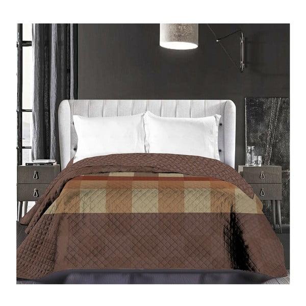 Hypnosis Arthur barna kétoldalas mikroszálas ágytakaró, 220 x 240 cm - DecoKing