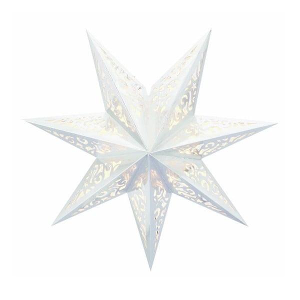 Svítící hvězda Vallby White, 45 cm