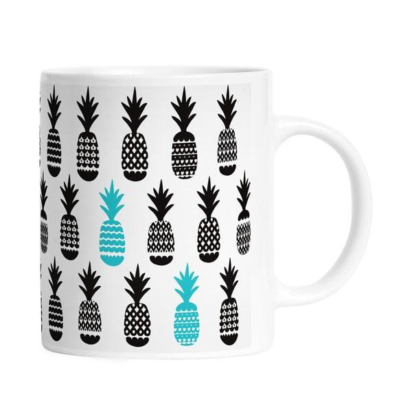 Keramický hrnek Black Pineapples, 330 ml
