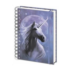 Linkovaný zápisník A5 Pyramid International Anne Stokes Unicorn, 80 stran