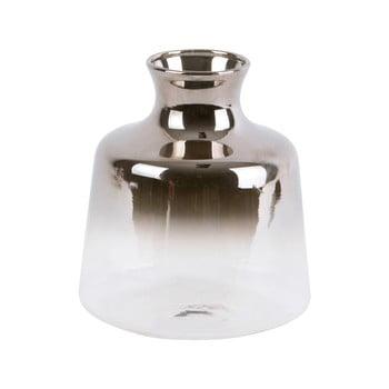Vază mică din sticlă PT LIVING Silver Fade, înălțime 8,5 cm
