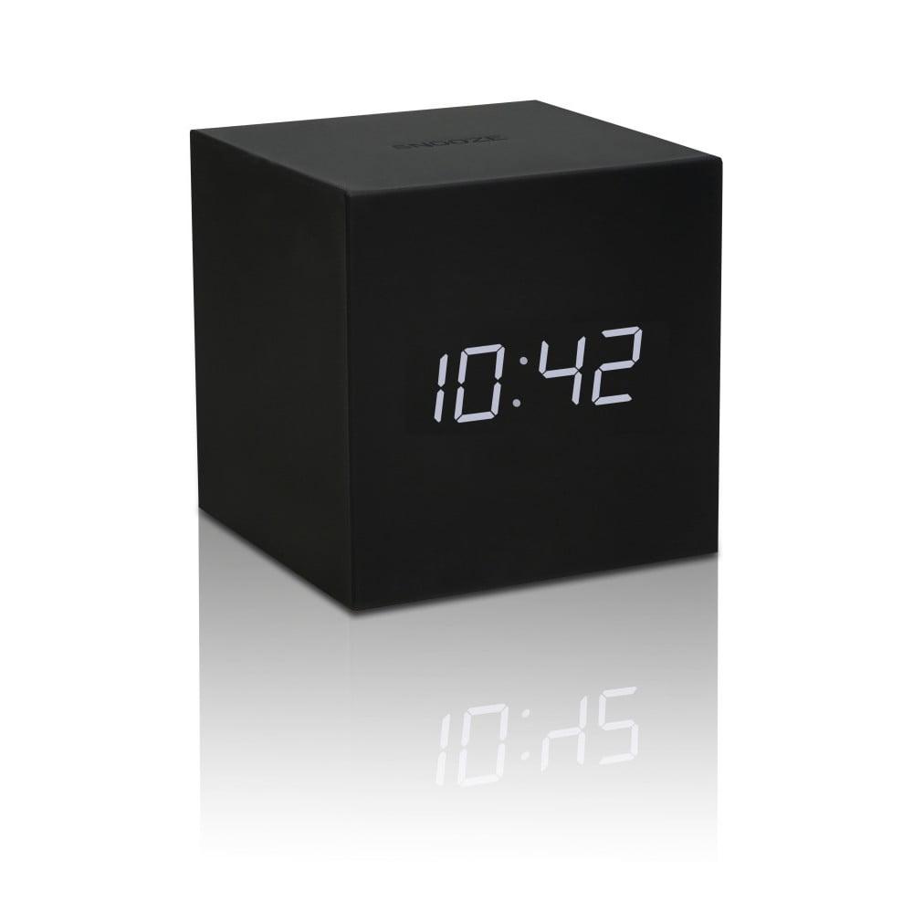 Černý LED budík Gingko Gravitry Cube