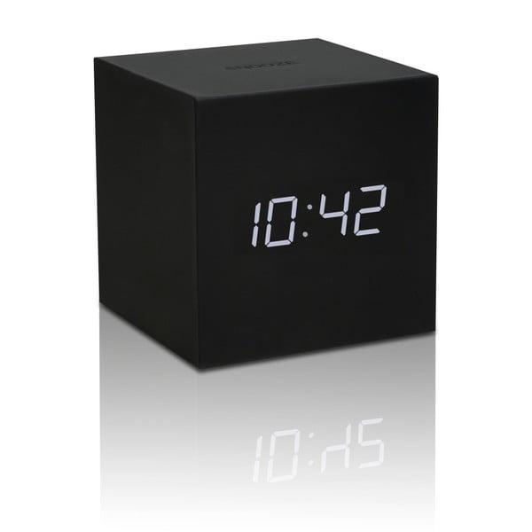 Czarny budzik LED Gingko Gravitry Cube