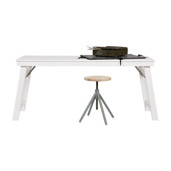 Bílý psací stůl WOOOD Klap