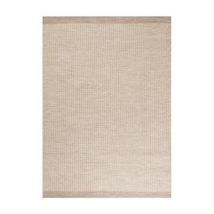 Béžový ručně tkaný vlněný koberec Linie Design Newham,140x200 cm