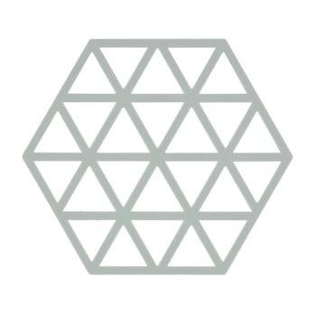 Suport din silicon pentru vase fierbinți Zone Triangles, gri deschis imagine
