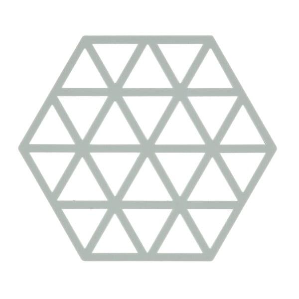 Suport din silicon pentru vase fierbinți Zone Triangles, gri deschis