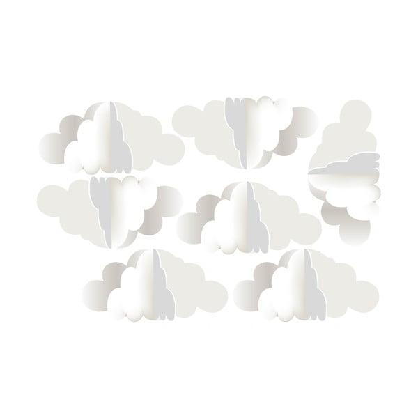 Zestaw 7 naklejek ściennych Dekornik 3 Clouds