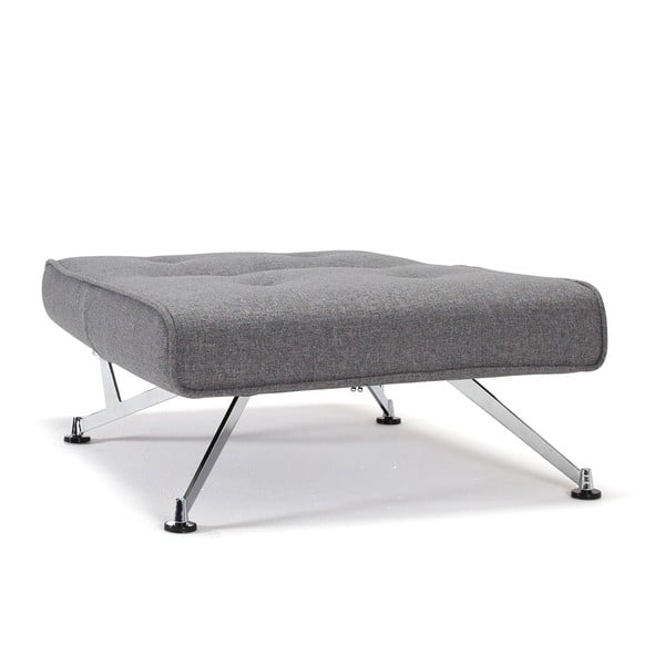 Šedé rozkládací křeslo s područkami Innovation Clubber Chair