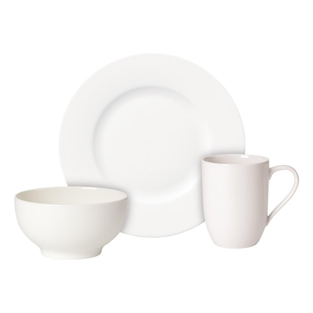 Snídaňový porcelánový set misky, talíře a hrnku Villeroy & Boch For Me