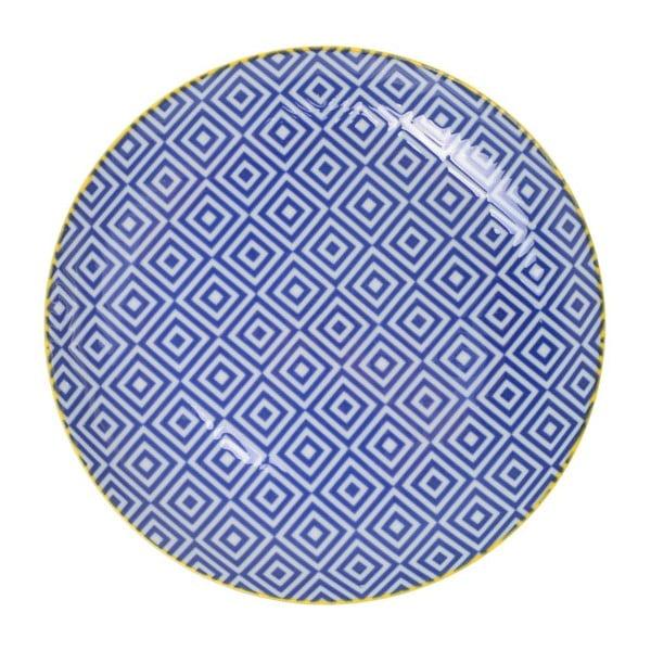 Porcelánový talíř Geometric No3, 16x2,1 cm