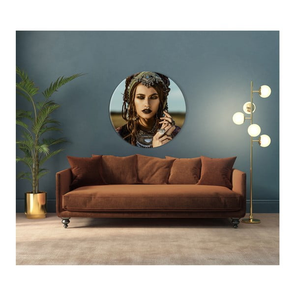 Nástěnná dekorace Styler Glasspik Ringart Boho, ø70cm