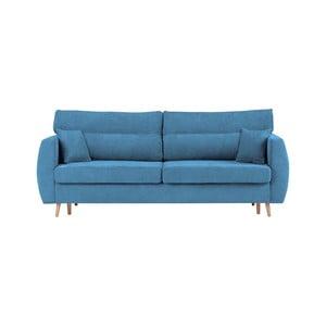 Modrá trojmístná rozkládací pohovka s úložným prostorem Cosmopolitan design Sydney, 231x98x95cm
