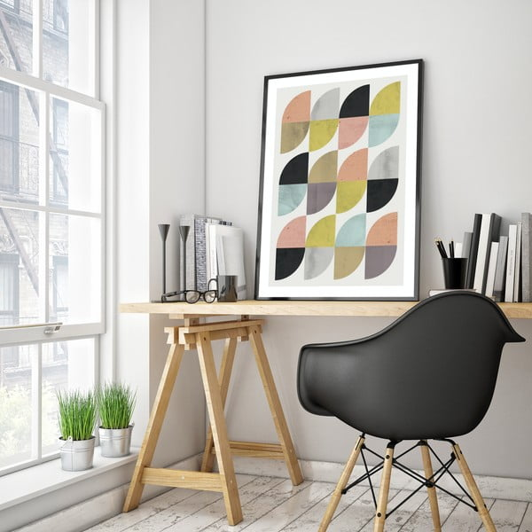 Plakát v dřevěném rámu Citratus, 38x28 cm