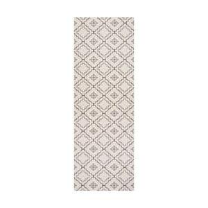 Bílý běhoun White Label Nori, 100 x 65 cm
