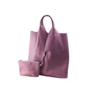 Růžová kabelka z pravé kůže Andrea Cardone Wendy