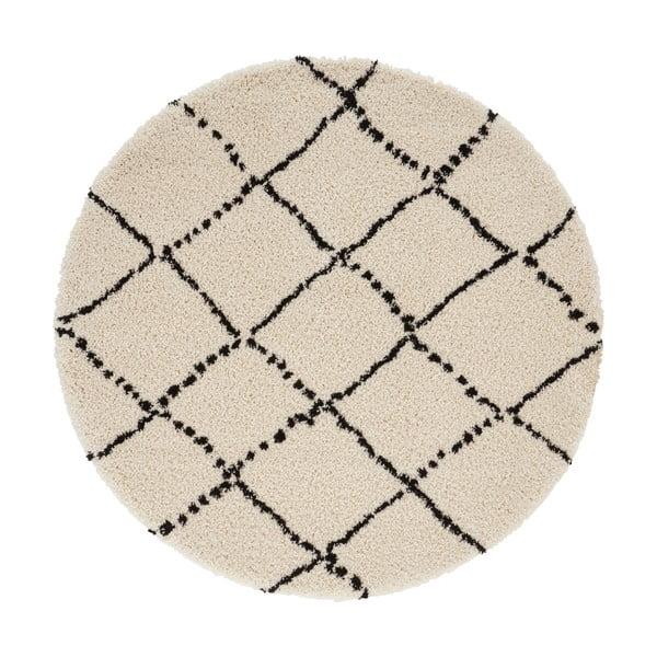 Béžovo-černý koberec Mint Rugs Hash, ⌀ 160 cm